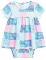 Vineyard Vines Whale Patchwork Skirted Bodysuit