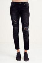 True Religion Halle Super Skinny Moto Womens Jean