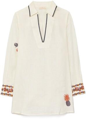 Tory Burch Embroidered Beach Shirt
