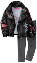 Betsey Johnson Pleather Jacket, Tee, & Legging Set (Little Girls)