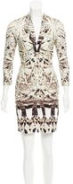 Roberto Cavalli Abstract Print Embellished Dress