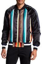 Eleven Paris ELEVENPARIS Stripe Print Bomber Jacket