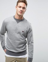 Jack and Jones Sweatshirt With Chest Logo and Contrast Neck and Hem