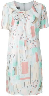 Emporio Armani Geometric-Print Silk Dress