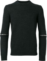Les Hommes zip-detail fitted jumper