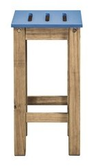 "Millwood Pines Wiggin 24.8"" Barstool Color: Blue"