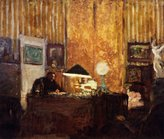"ODSAN Thadée Natanson At His Desk - By Edouard Vuillard - Canvas Prints 20"" by 17"" Unframed"