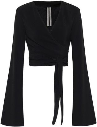 Rick Owens Cropped cady wrap top