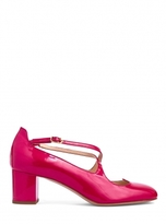 Camilla Elphick Lover Mid Heel Ruby Leather Shoes