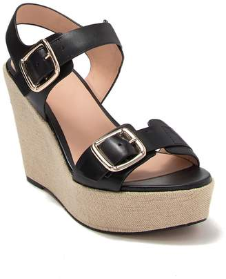Naturalizer Cait Leather Wedge Sandal