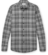 Saint Laurent Checked Cotton and Hemp-Blend Flannel Shirt