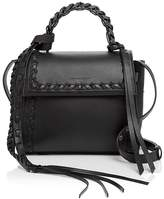 Elena Ghisellini Angel Boho Frills Small Leather Satchel