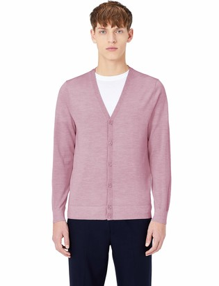 Meraki Amazon Brand Men's Fine Merino Wool V-Neck Cardigan
