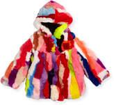 Adrienne Landau Multicolor Fur Coat