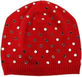 N°21 N° 21 Red Beanie With Mirrored Pois