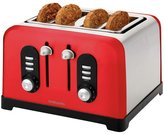 Cookworks Premium 4 Slice Toaster - Red
