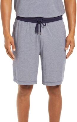 Daniel Buchler Feeder Stripe Cotton Blend Lounge Shorts