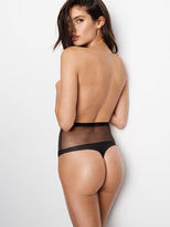 Very Sexy Fishnet Raw Cut High-waist Thong Panty