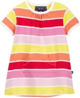 Toobydoo Sun Stripe Kangaroo Pocket Dress (Baby & Toddler Girls)