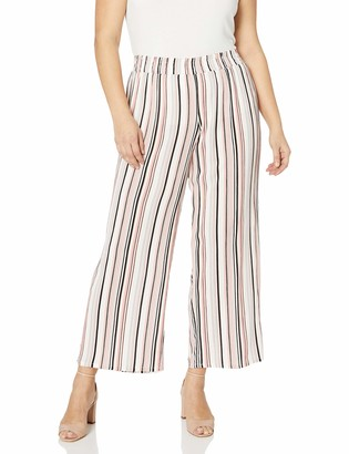 Amy Byer Women's Plus Size Wide Leg Pull On Pants