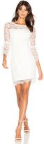 Bobi BLACK Ruffle Sleeve Mini Dress in White. - size XS (also in )
