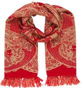 Alexander McQueen Wool Tassel-Embellished Scarf