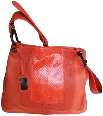 Badgley Mischka Orange Leather Handbags