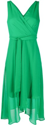 DKNY Belted Wrap Style Dress