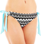 JCPenney A.N.A a.n.a Zigzag Print Side-Tie Hipster Swim Bottoms