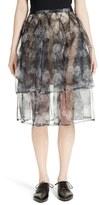 Comme des Garcons Transfer Print Organdy Skirt