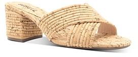 Schutz Women's Ana Kate Slip On Mid-Heel Sandals