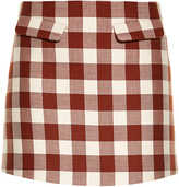 Marni Gingham mini skirt