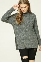Forever 21 FOREVER 21+ Marled Knit Fisherman Sweater