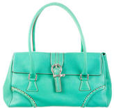 Burberry Buckle-Accented Leather Shoulder Bag