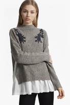 French Connection Alice Nep Knit Lace Jumper