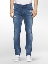 Calvin Klein Slim Leg Monza Distressed Jeans