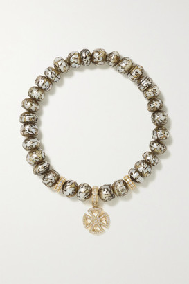 Loree Rodkin Cross 18-karat Gold, Pearl And Diamond Bracelet