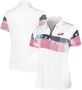 Antigua Philadelphia Eagles Women's Patriot Quarter-Zip Polo White