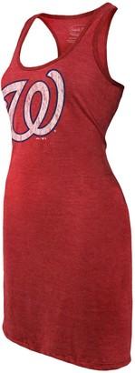 Majestic Women's Threads Red Washington Nationals Tri-Blend Racerback Sleeveless Dress