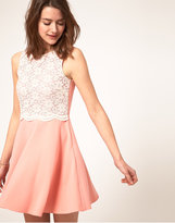 River Island Lace Panel Skater Dress