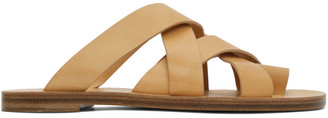 Jil Sander Tan Multi Strap Sandals