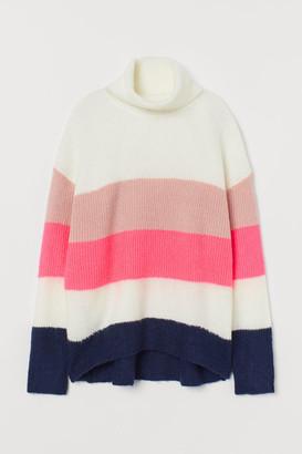H&M Knit Turtleneck Sweater - Blue
