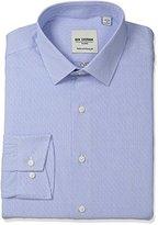 Ben Sherman Men's Skinny Fit Dobby Stripe Spread Collar Dress Shirt
