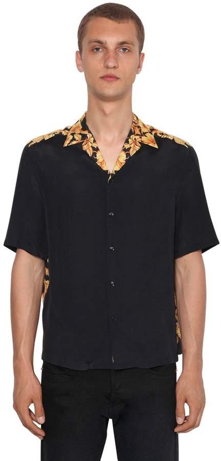 Versace Hibisbcus Heritage Bowling Shirt