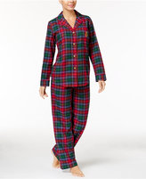 Lauren Ralph Lauren Brushed Twill Notch Collar Pajama Set