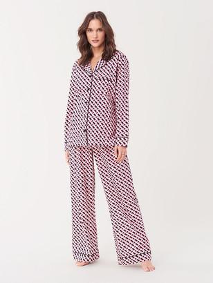 Diane von Furstenberg Cotton Pajama Set