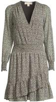 MICHAEL Michael Kors Printed Ruffle Wrap Dress