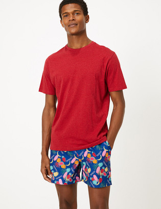 Marks and Spencer Quick Dry Tropical Print Swim Shorts