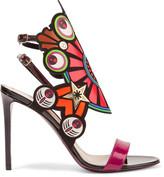 Nicholas Kirkwood Kaleidoscope flocked leather sandals