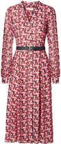 MICHAEL Michael Kors Belted Floral-print Crepe Midi Dress